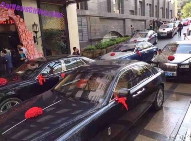 đám cưới, chật kín, siêu xe, Thượng Hải