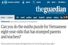 """Bài toán lớp 3 của Việt Nam khiến báo Anh """"đau đầu"""""""