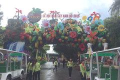 Tạo hình chủ đề biển đảo ở Lễ hội trái cây Nam bộ