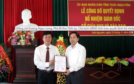 Bổ nhiệm Giám đốc Sở Giáo dục Thái Nguyên