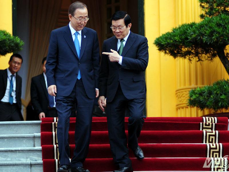 VN nêu diễn biến Biển Đông với Tổng thư ký LHQ
