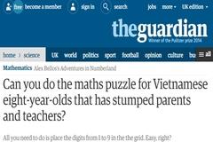Tìm ra nguồn gốc bài toán lớp 3 khiến báo Anh đau đầu
