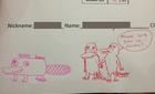 Thầy giáo chấm điểm bằng hình vẽ ngộ nghĩnh