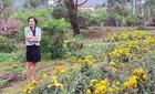 Thu Phương, Mỹ Linh thích thú trồng rau sạch tại nhà