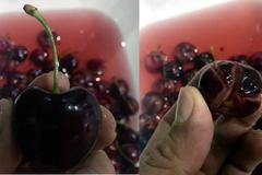 Cherry 'ngoại' tiền triệu: Đột biến màu, nứt toác