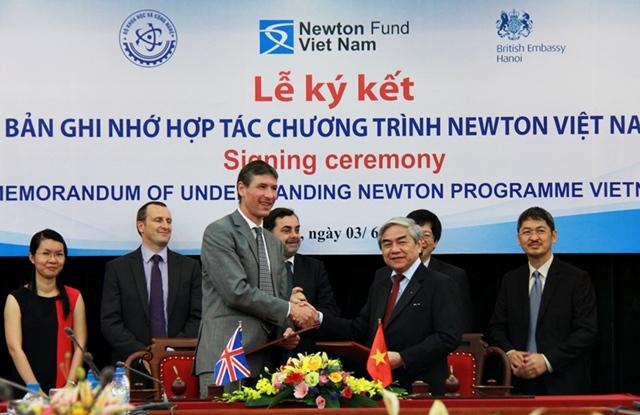 đổi mới sáng tạo, khoa học công nghệ, quỹ Newton, 10 triệu Bảng Anh, hợp tác nghiên cứu