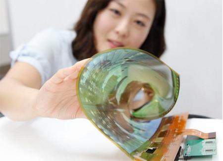LG phát triển màn hình có thể cuộn tròn