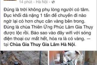Thực hư tin đồn đập đá phát hiện cục vàng 10kg ở Hà Nội