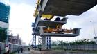 TPHCM: Lắp nhịp dầm cầu đầu tiên cho tuyến Metro số 1