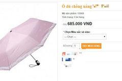 Ô chống nắng ngăn tia UV 100% giá 700 nghìn đồng: Lừa đảo?