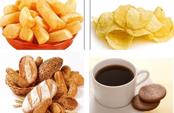 hóa chất, thuốc lá, gây ung thư, khoai tây chiên, bánh mỳ, cà phê, bánh quy