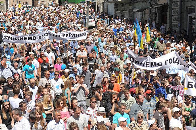 biểu tình, Maidan, Kiev, Ukraina, Petro Poroshenko