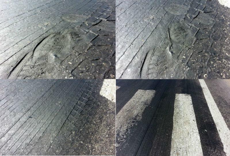 Nghệ An, mặt đường QL1A, chảy nhựa, trời nắng