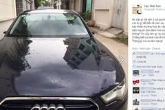 Audi A6 của Cao Thái Sơn bị 'vặt gương' giữa ban ngày