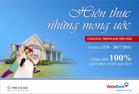 Khách hàng dùng dịch vụ VietinBank trúng thưởng 500 triệu đồng