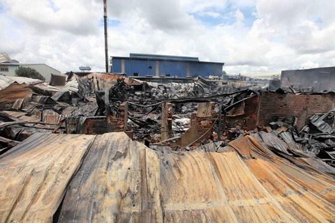 Cháy lớn trong Khu công nghiệp Hoàng Gia
