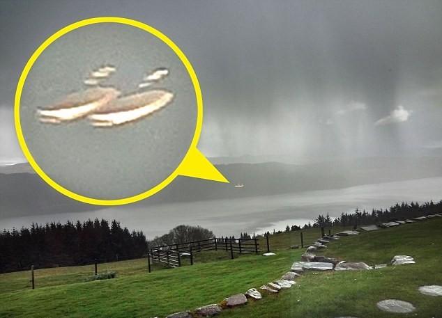 Xuất hiện vật thể lạ giống như UFO ở hồ Loch Ness?