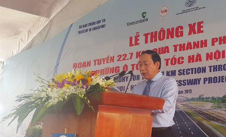 Cao tốc Hà Nội – Hải Phòng thông xe 22,7 km