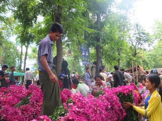 Lạc vào chợ hoa ở xứ đàn ông bận váy
