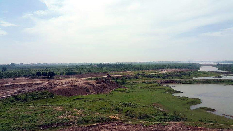 sông Hồng; bị lấp