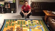 Game thủ kỳ công thêu bản đồ Super Mario Bros 3 suốt 6 năm