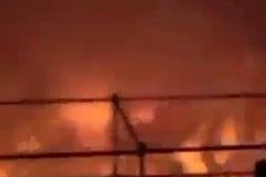 Lửa cháy ngùn ngụt ở công viên nước Đài Loan
