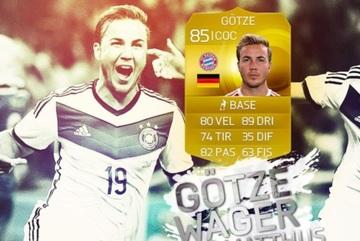 Gotze 'đền tiền' cho fan vì nhân vật của mình trong game FIFA 15 sút bóng hỏng