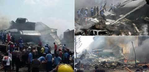 Tai nạn máy bay Indonesia, hơn 100 người chết
