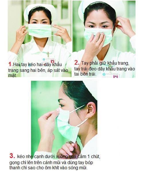 Cách chọn và dùng khẩu trang đúng cách để phòng bệnh hô hấp
