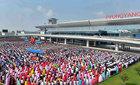 Triều Tiên rầm rộ khai trương nhà ga phi trường mới