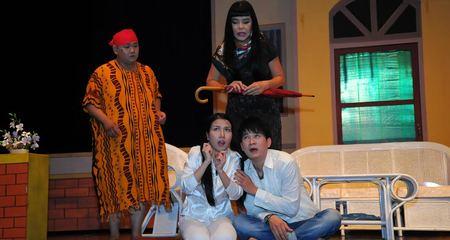 Cindy Thái Tài đóng kịch kinh dị