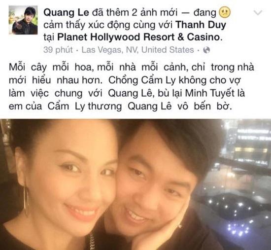 Mr Đàm, scandal, Quang Lê, Cẩm Ly