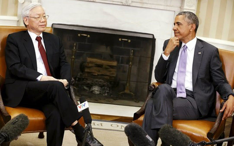 Tổng bí thư và Tổng thống Obama bàn về Biển Đông