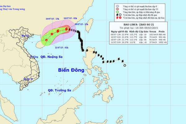 Bão số 2 vần vũ trên biển Đông, gió giật đến cấp 12