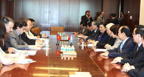 Tổng bí thư nêu vấn đề Biển Đông với Tổng thư ký LHQ