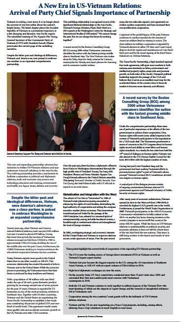 Báo Mỹ viết về dấu ấn chuyến thăm của Tổng Bí thư
