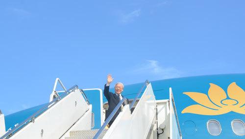 Tổng bí thư kết thúc chuyến thăm Mỹ