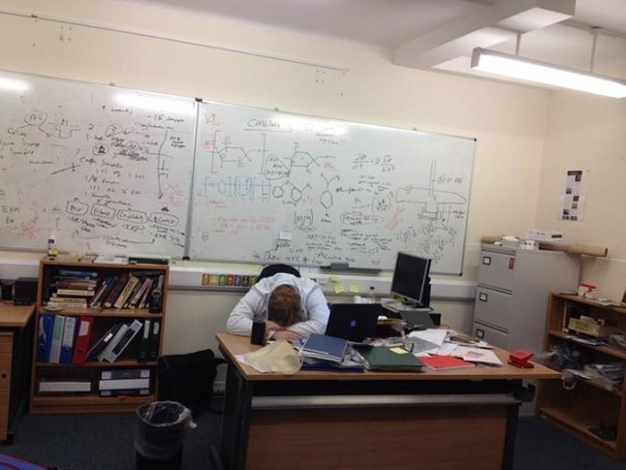 Cuộc sống mệt nhoài của nghiên cứu sinh qua ảnh