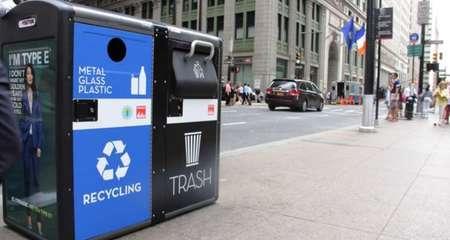 Mỹ biến thùng rác thành trạm phát WiFi miễn phí