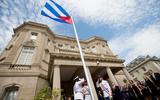 Cờ Cuba lần đầu bay trên đất Mỹ sau 54 năm