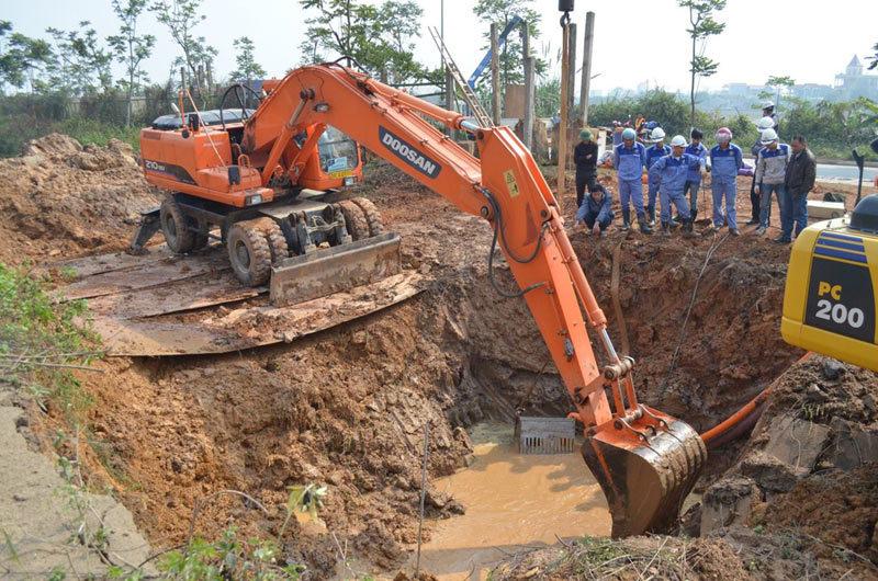 Đường ống dẫn nước sông Đà về Thủ đô vỡ lần thứ 11 - 1
