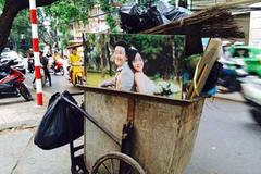 Ảnh cưới tiền triệu nằm gọn trong xe rác