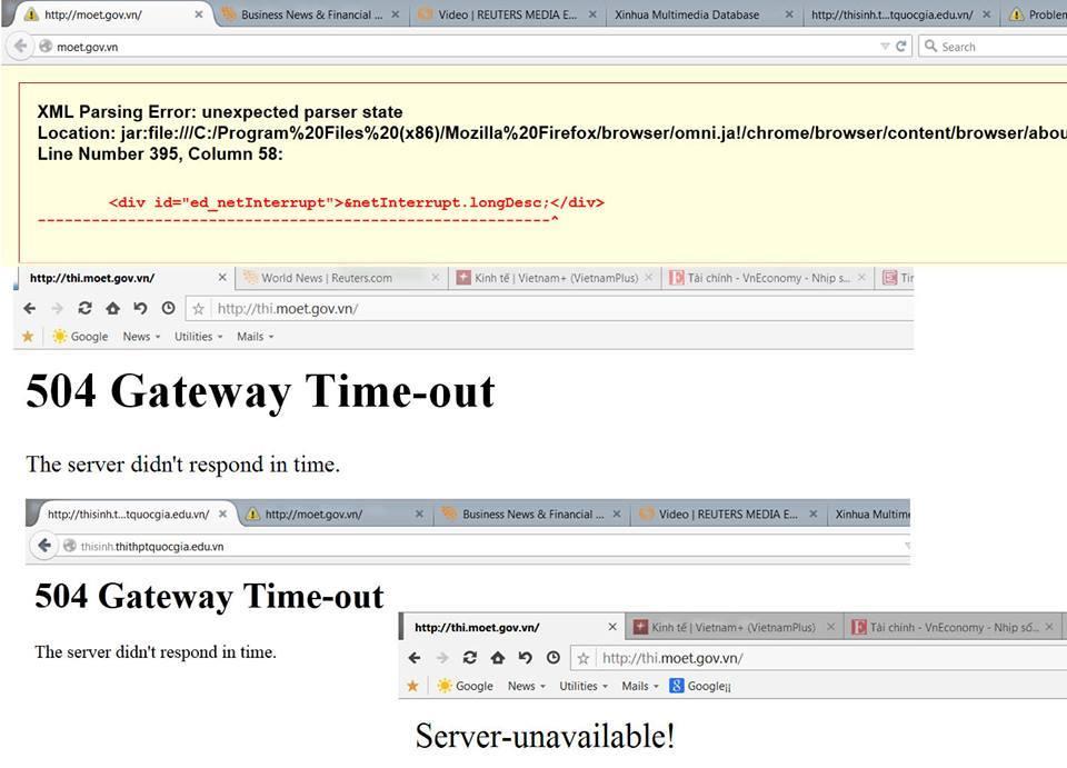 Server của Bộ GD&ĐT chỉ thiết kế cho 60.000 người truy cập