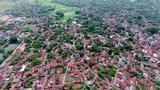 Ngôi làng cổ đẹp nhất Việt Nam nhìn từ bầu trời