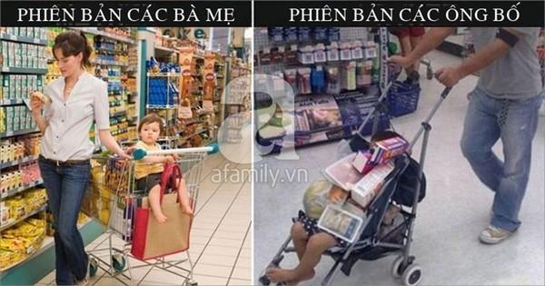 khác biệt, bố mẹ, chăm con, hài hước