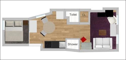 Căn hộ 30m² với cách lưu trữ đồ cực đỉnh của vợ chồng mới cưới