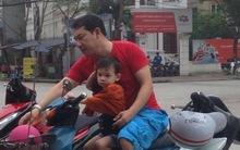 Quang Thắng chở con trai trên chiếc xe máy cũ gây chú ý