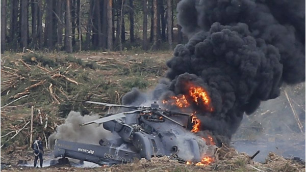 Thế giới 24h: Máy bay chiến đấu Nga rơi nổ tan tành