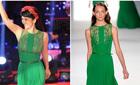 Những bộ váy lục bảo 'đắt xắt ra miếng' của Hồng Nhung, Hà Hồ