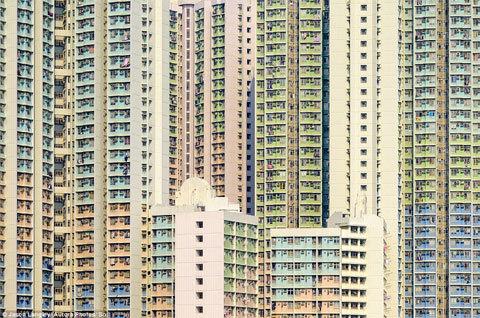 Hong Kong, đông đúc, chật chột, thành phố hộp